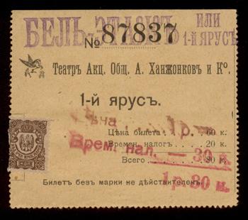 История кинематографа: билеты в кинотеатры