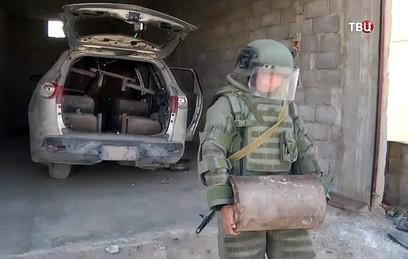 Российские саперы продолжают разминировать освобожденные районы в Сирии