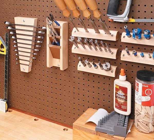 Как сделать полки для инструмента в гараже своими руками фото