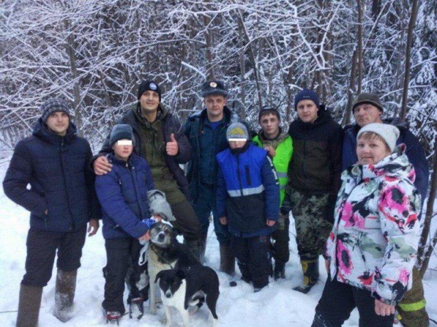 Город Кушва — собаки помогли выжить пропавшим подросткам в зимнем лесу