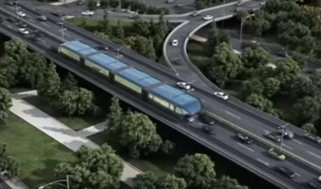 Конструкция китайского «транспорта будущего»