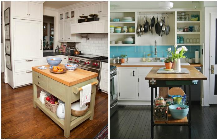 Кухонный остров уместен и в малогабаритной квартире.