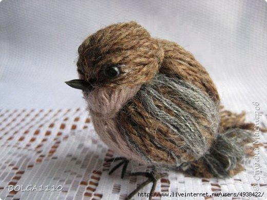 Птицы из ниток на радость детворе сделай сам