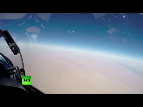 Появилось видео ударов крылатыми ракетами Х-101 с самолетов Т-95МС по сирийской Ракке