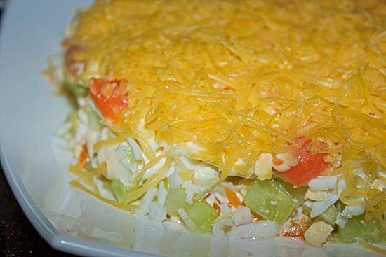 Слоеный салат «Пир горой»