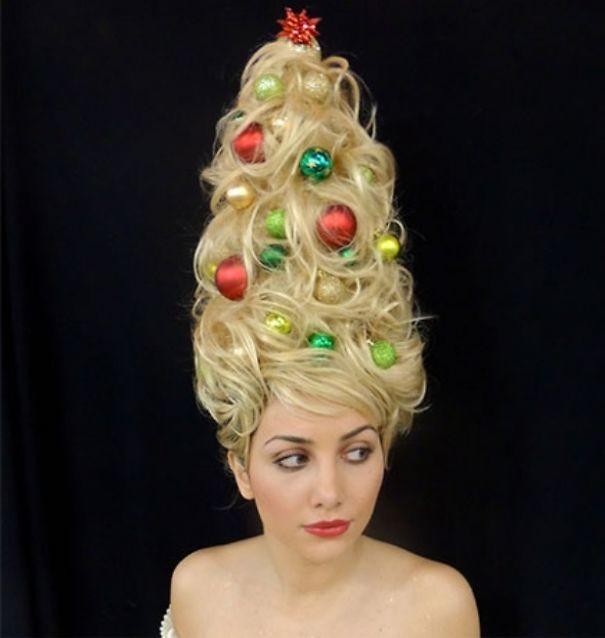 43. Елка волосы, праздник, прическа, рождество