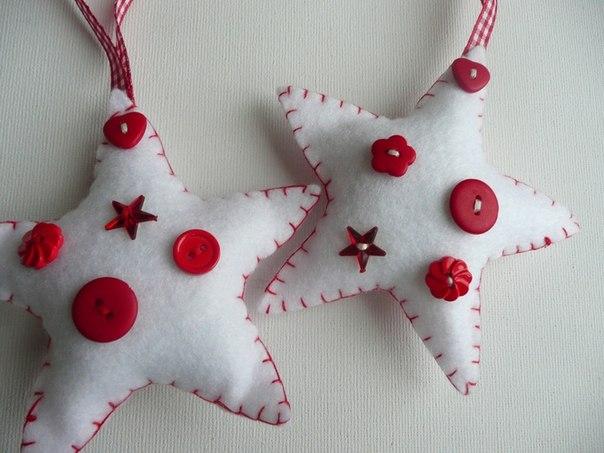 Новогодние игрушки из фетра своими руками выкройки фото