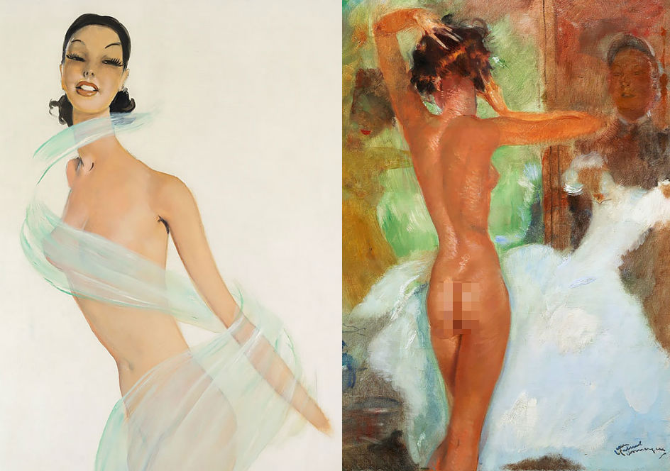 Соблазнительные парижанки на картинах французского художника Жана-Габриэля Домерга