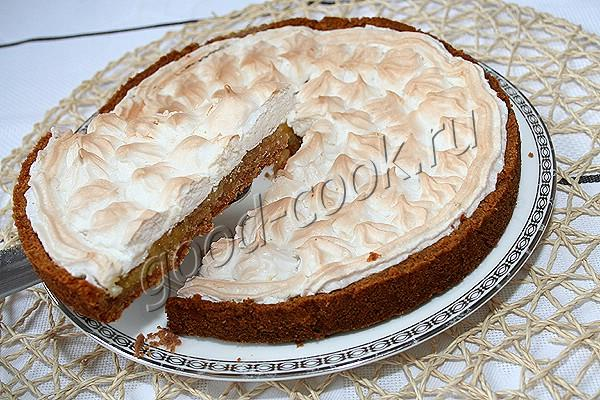 рецепт лимонного пирога с безе фото