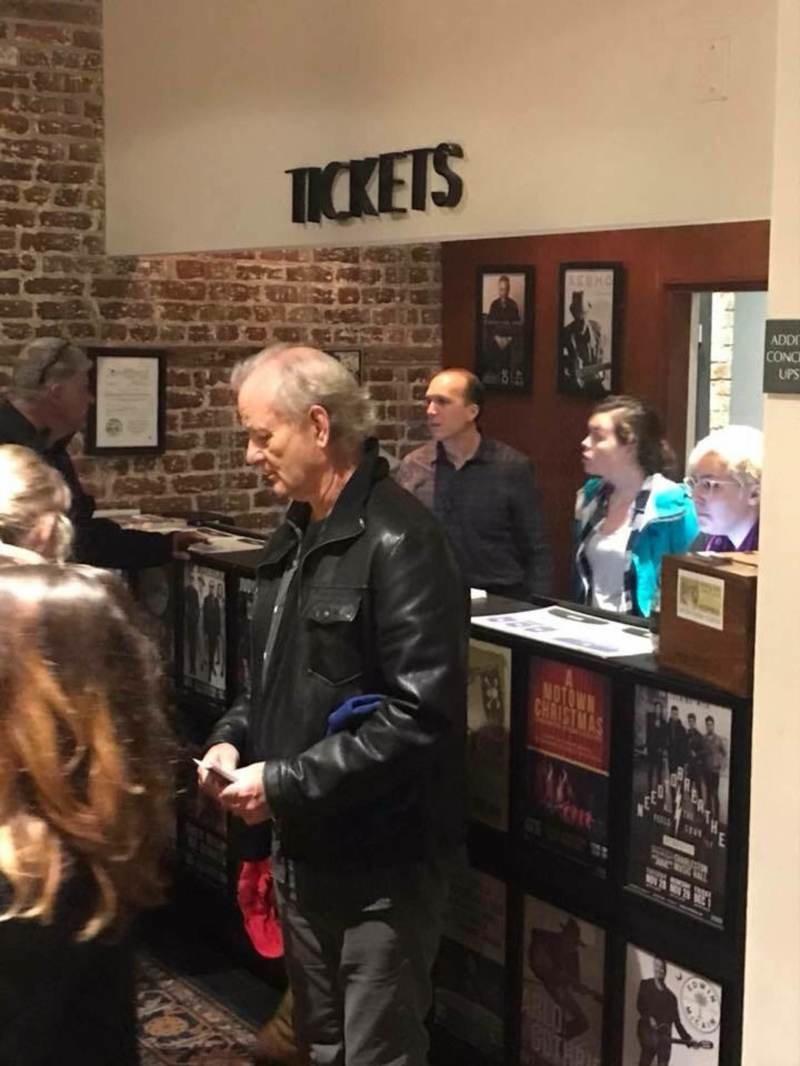 Билл Мюррей пришёл на концерт и купил билеты всем, кто стоял в очереди актер, билеты, билл мюррей, добро, знаменитости, концерт