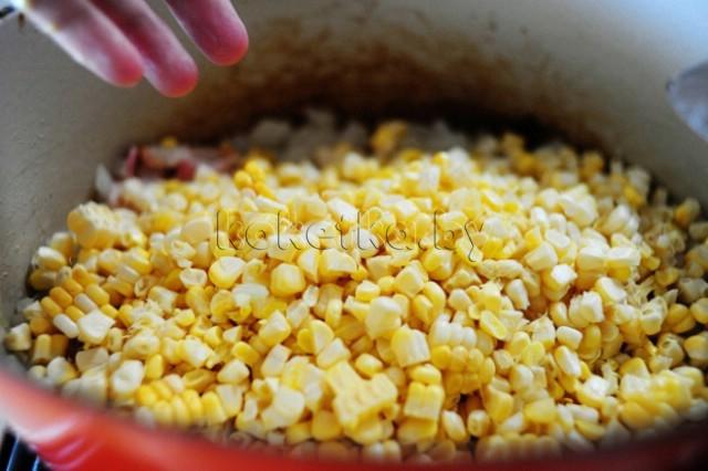 Крем суп с кукурузой