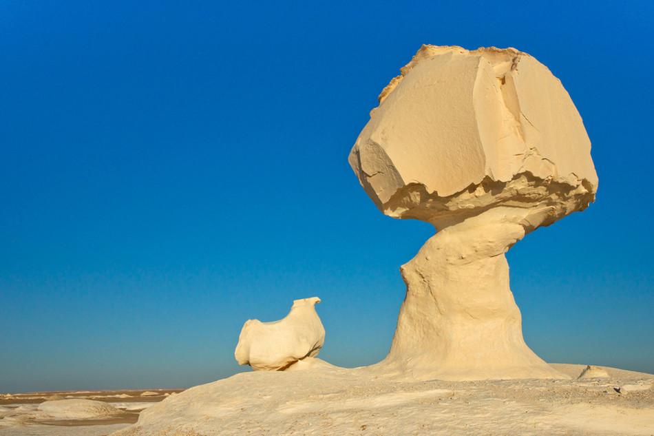 """Скалы """"Гриб и цыпленок"""", Белая пустыня, Египет геология, история с географией, красота, скалы"""