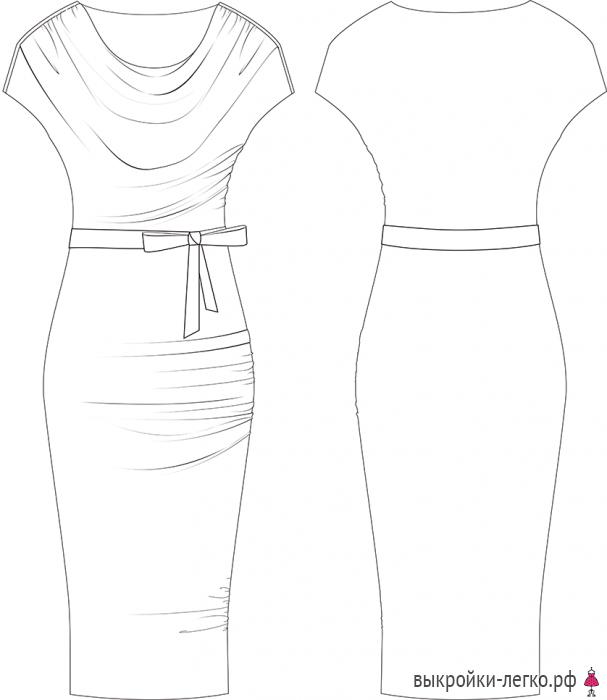 Сшить платье если нет фигуры 918