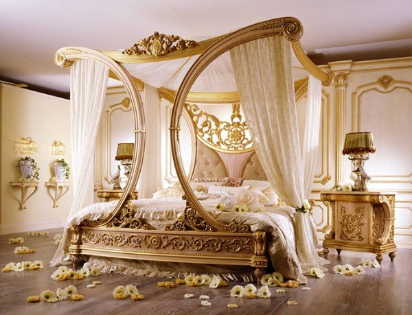 сочетание цветов в интерьере спальни бежевый золотистый