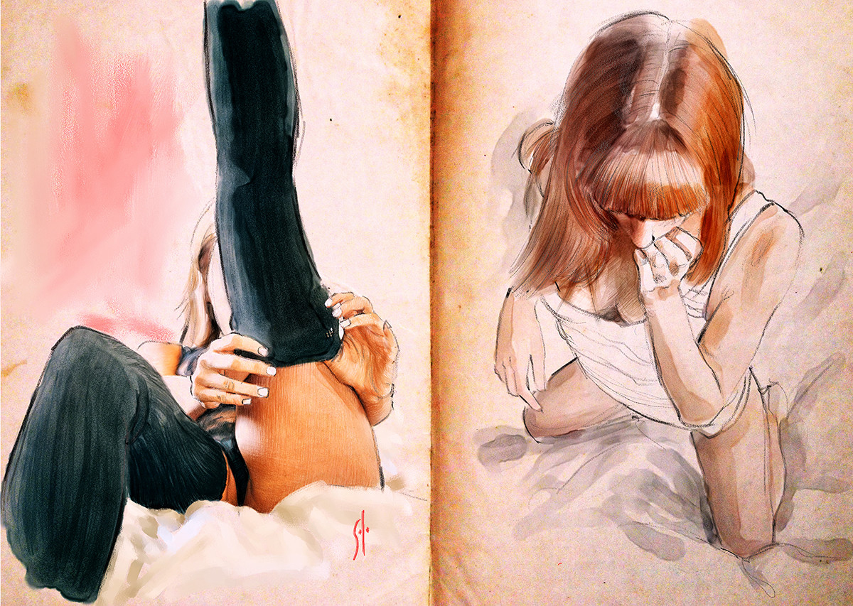 Произведения искусства арт и рисованая графика
