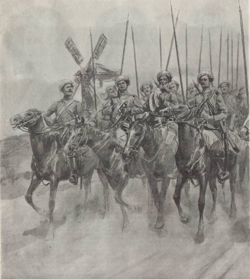 Незвиска. Атака русской конницы
