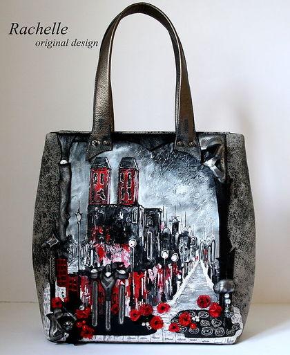 Женские сумки ручной работы. Ярмарка Мастеров - ручная работа Rachelle-Амстердам-прогулка под дождём. Handmade.