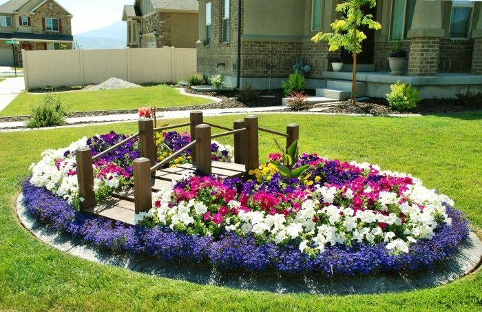Оформление цветников на дачном участке