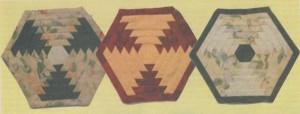 Шестиугольная подушка - думка (пэчворк)