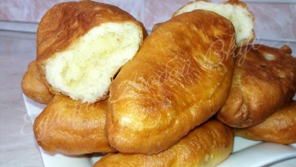 Жареные пирожки с картошкой. Из такого теста еще не готовили!