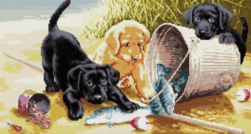 Вышиваем собачек