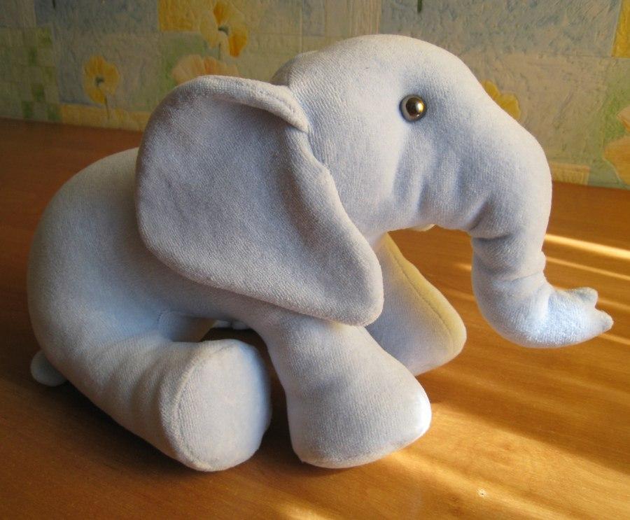 Мягкая игрушка своими руками слон