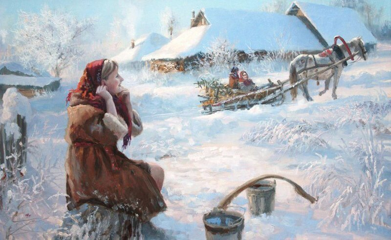 Истории об искусстве, или зимнее настроение в работах художника Жданова