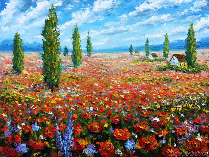 Живопись маслом картины мастихином: Живопись Цветочное поле красных маков. Rybakow.com - Современная живопись цветов в картинах, которые можно купить напрямую у художника Валерия Рыбакова.