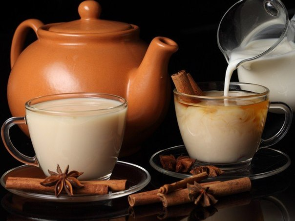 Вечером - молоко и специи