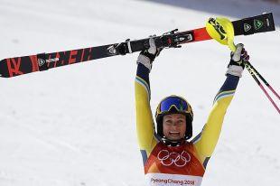 Шведка Фрида Хансдоттер выиграла золотую медаль в слаломе