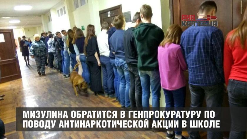 Елена Мизулина подготовила запрос в Генпрокуратуру по поводу антинаркотической акции в одной из школ Сестрорецка