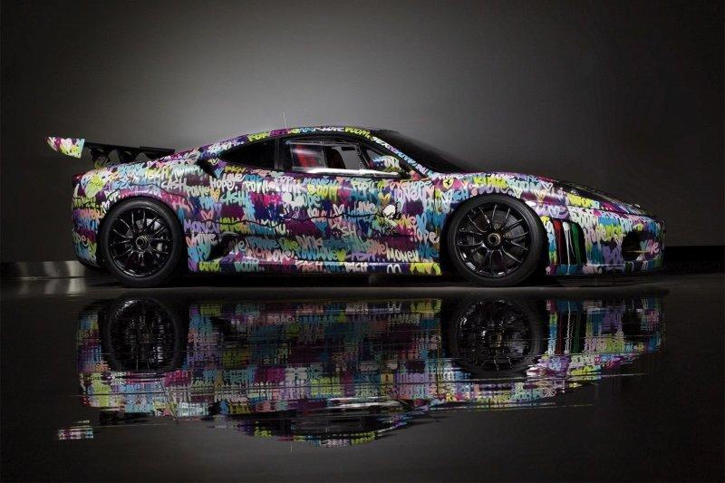 Граффити, как искусство: разукрашенный Ferrari выставят на торги
