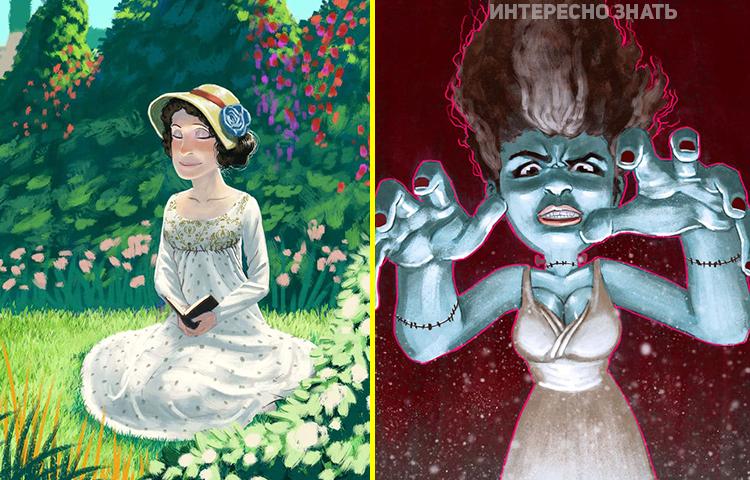 А любовь — она такая: Художник создал 15 креативных фото ко дню рождения жены