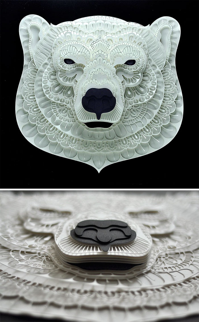 Incredibly Intricate Paper Cut-Outs Of Endangered Animals