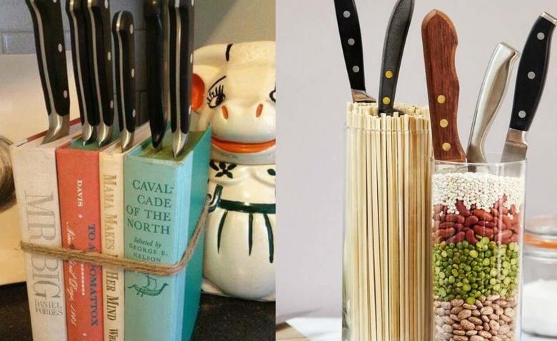 Подставка для ножей в интересных вариациях
