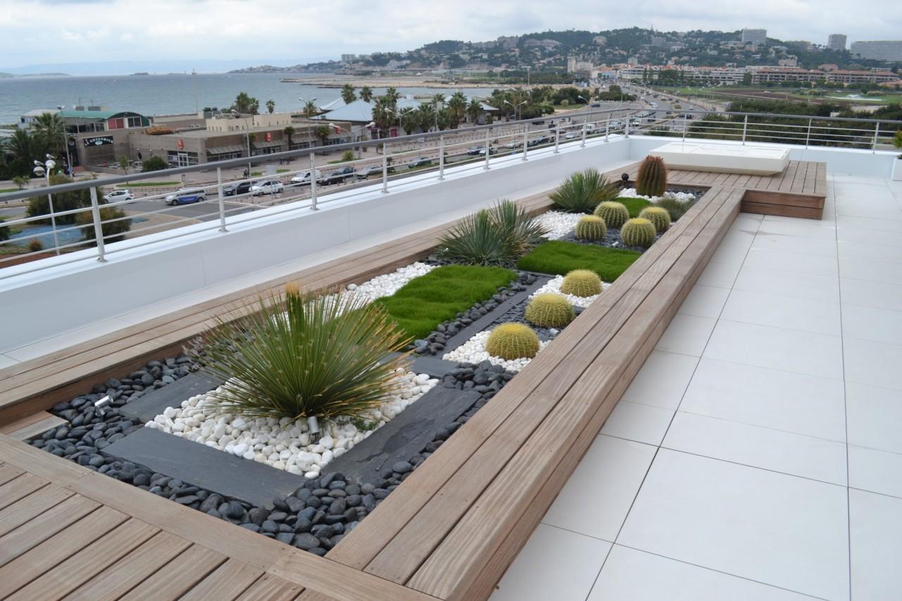 Современная терраса в Марселе