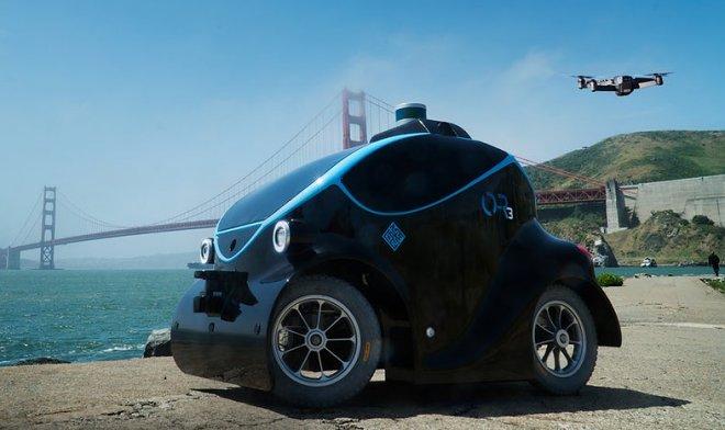 O-R3 — охранный робот-автомобиль с собственным беспилотником-помощником