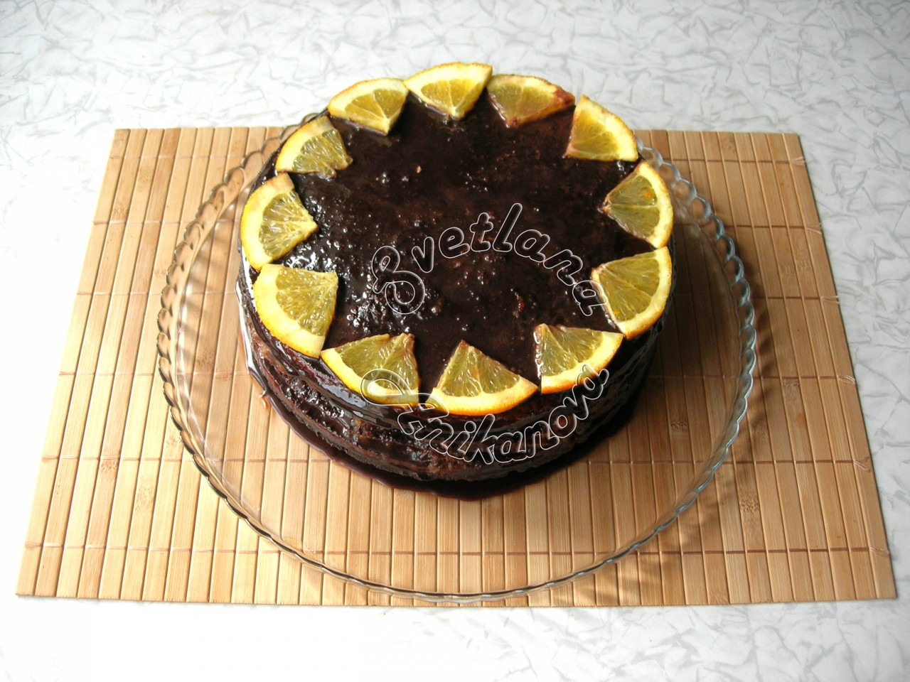 Шоколадный торт «Бразилия» с апельсиновым конфи
