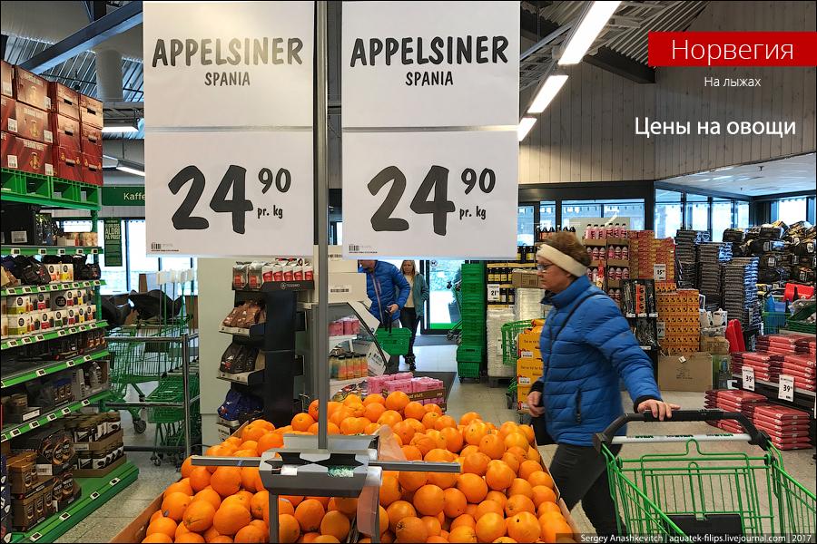 Про адские цены на овощи в Норвегии