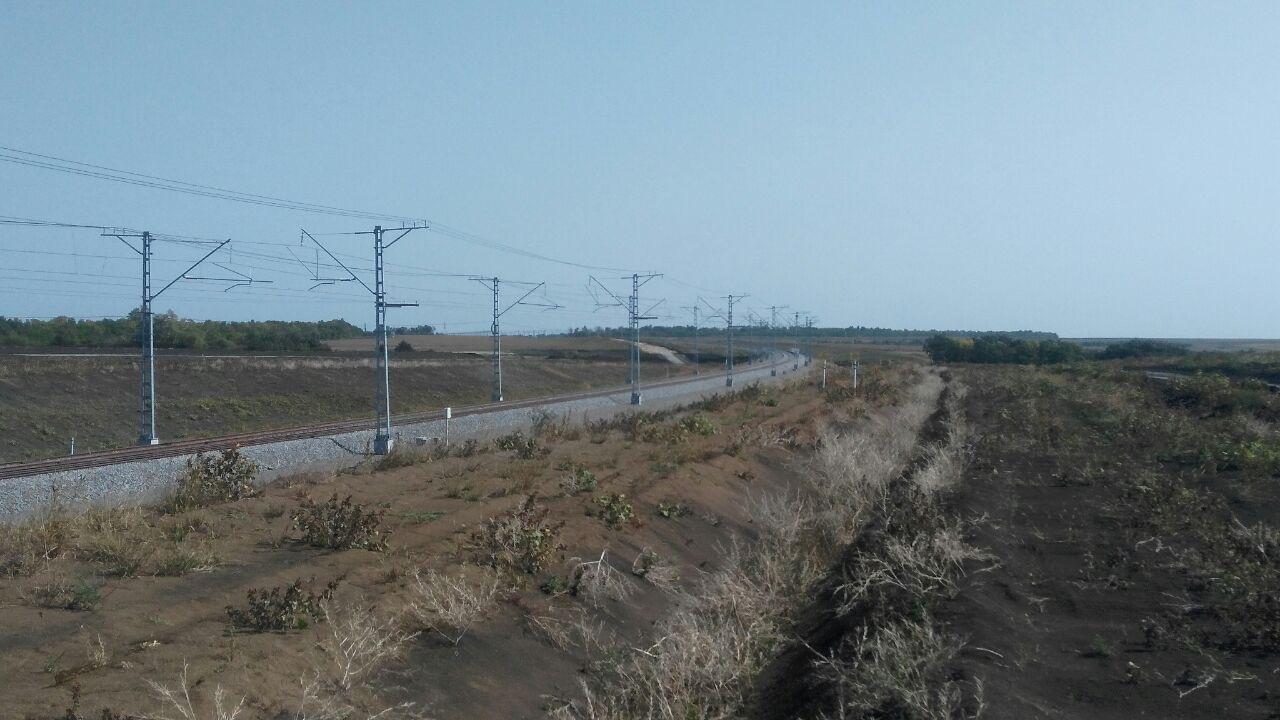 Об условиях работы техники на строительстве обходного участка Журавка-Миллерово вокруг Украины