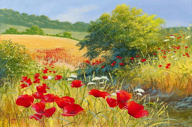 Чарующий летний пейзаж — прелестные работы художница Mary Dipnall