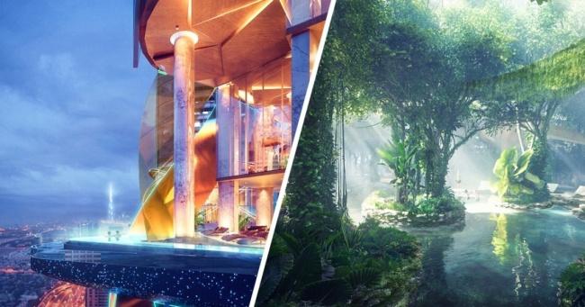 В этом отеле вместо комнатных цветов растет целый тропический лес. Ничего необычного, просто отель этот — в Дубайе