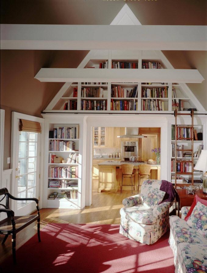 Декорирование с помощью книжного стеллажа
