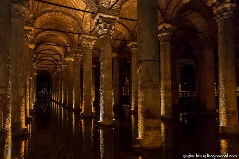 Йеребатан Сарай, древний резервуар для воды в Стамбуле