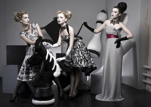 Ив Сен-Лоран: Платья в стиле new look
