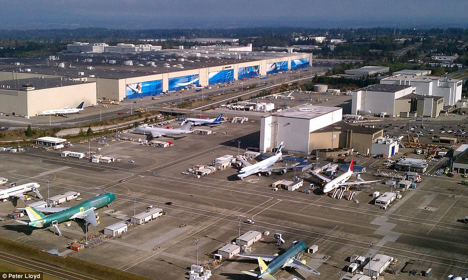 Завод Boeing в США