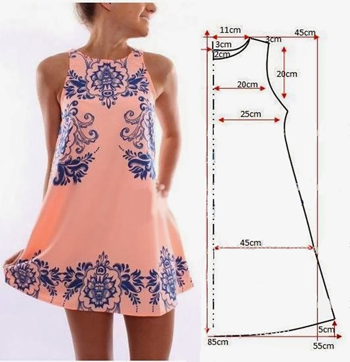 Сшить летнее платье для новичков 13