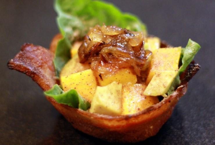салат в беконе