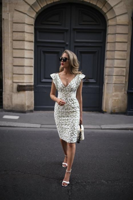 Элегантное летнее платье - все размеры выкройки
