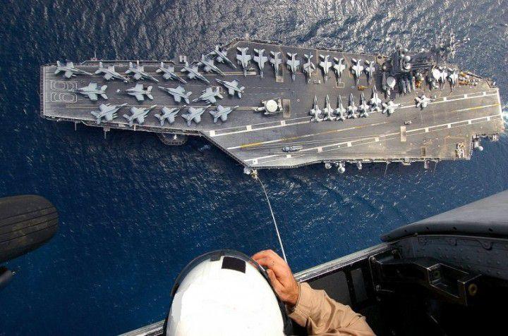 Миф о непобедимости американских авианосцев Российские, истребители, су-27, авианосец, Кити Хок